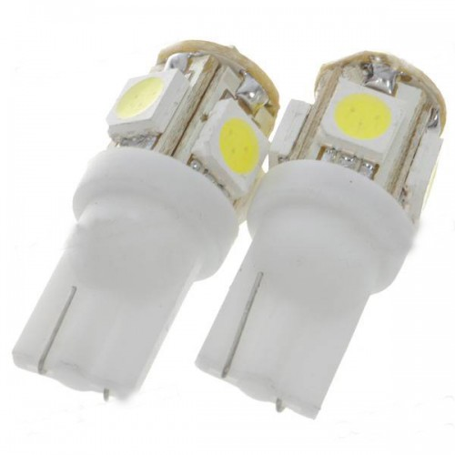 10pcs T10 194 W5W BULB 5SMD WEDGE CAR WHITE LED LIGHT