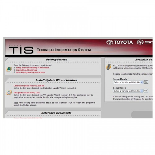 ECU Flash Reprogramming DVD for Toyota