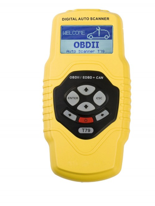 Highend Diagnostic Scan Tool OBDII auto scanner T79 yellow multilingual and updatable