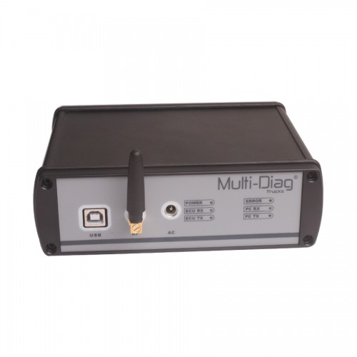 WAS Multi-Diag Truck Diagnostic Tool Bluetooth for Mercedes IVECO MAN DAF VOLVO RENAULT Heavy Duty V2011C