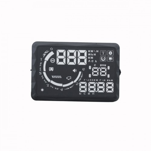 "New 5.5"" LED OBD-II HUD Head Up Display Over Speeding warning/speed/Km rpm/shift light/temperature S5"