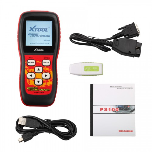 EOBDII/CAN OBDII Scanner PS100 Free Shipping