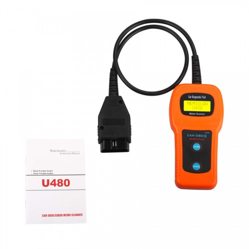 (US Ship No Tax) Memoscan U480 OBD2 OBDII Engine Code Reader CAN BUS Code Scanner