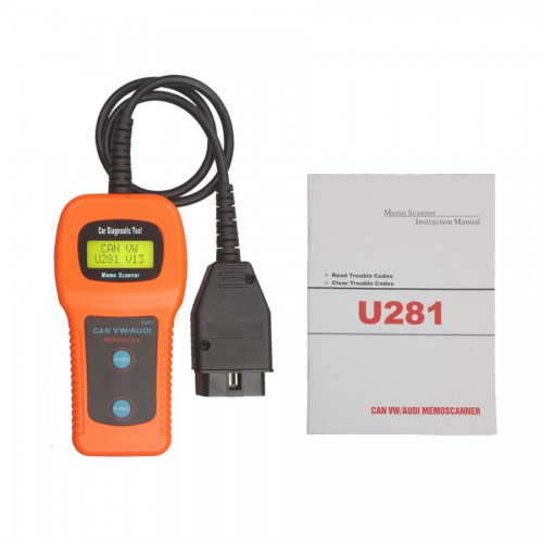 (US/UK Ship No Tax) U281 for VW AUDI SEAT CAN-BUS OBD OBD2 CODE READER/SCANNER Free Shipping