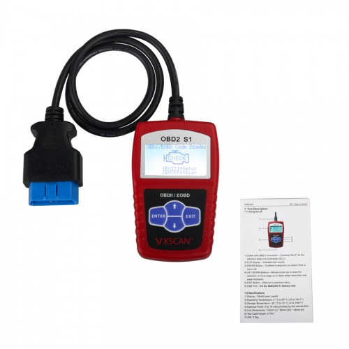 Original VXSCAN S1 EOBD OBDII DIY Code Reader With English Spanish and French Languages (US Local Shipping)