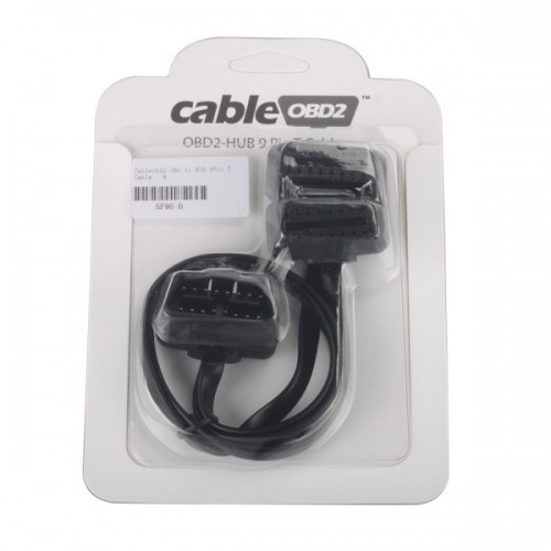 Cableobd2 OBD to HUB 9Pin T Cable for ELM327/AdblueOBD2/NitroOBD2/EcoOBD2/GPS/Navigation Devices