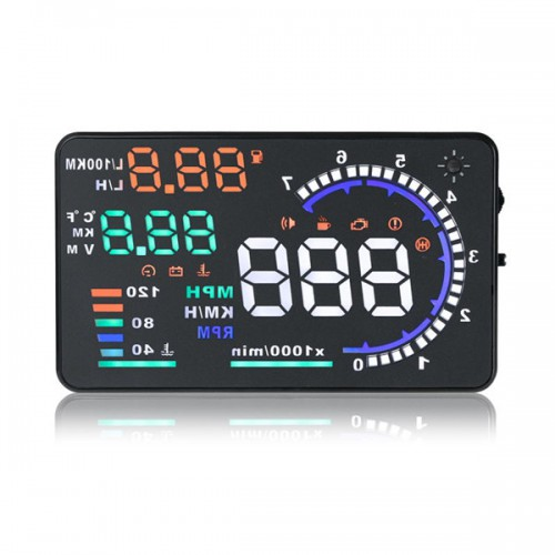 "5.5"" Large Screen Car HUD Head Up Display With OBD2 Interface Plug & Play A8 (US Local Shipping)"