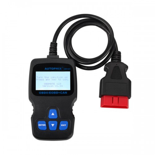 OM123 OBD2 EOBD CAN Hand-held Engine Code Reader (Black Color)