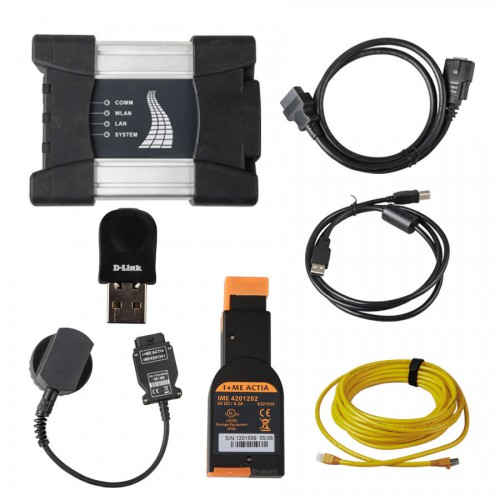 WIFI BMW ICOM NEXT A+B+C WIFI NEW GENERATION OF ICOM A2 with optical fiber and BMW 20 PIN cable Without Software