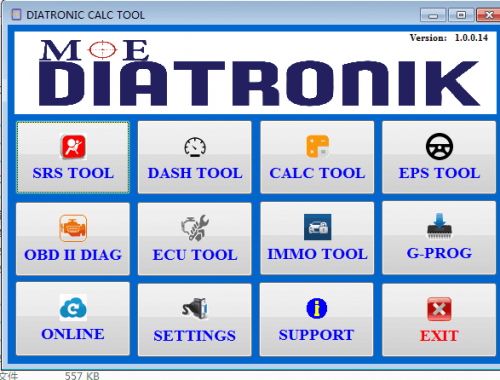 Diatronik SRS+DASH+CALC+EPS OBD Tool with USB Dongle Install on Win7/10 support all renesas and infineon via OBD2 for SRS
