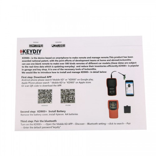 KEYDIY KD900 plus for IOS Android Bluetooth Remote Maker the Best Tool