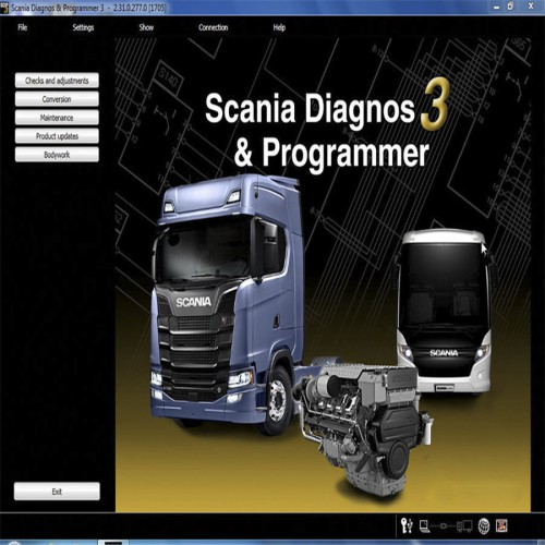 Newest Scania VCI & VCI2 SDP3 V2.31.1 Software for Trucks/Buses with Crack Files Without USB Dongle (send by link)