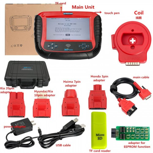 Top V8.19 SKP1000 SKP 1000 Tablet Auto Key Programmer for All Locksmiths Lifetime Can't Update