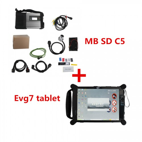V2019.7 MB SD C5 Connect Compact 5 MB Star Diagnosis with Original EVG7 2GB Tablet PC (Installed Well) With DTS Monaco Vediamo