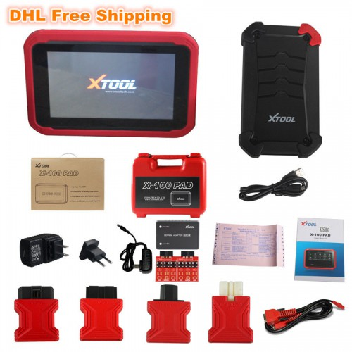 100% Original XTOOL X-100 X100 PAD Tablet Key Programmer with EEPROM Adapter Support Special Functions (Support US/UK Local Shipping)