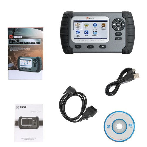 VIDENT iAuto700 Full System Diagnostic Tool for Engine Oil Light EPB EPS ABS Airbag Reset Battery Configuration (US Ship No Tax)
