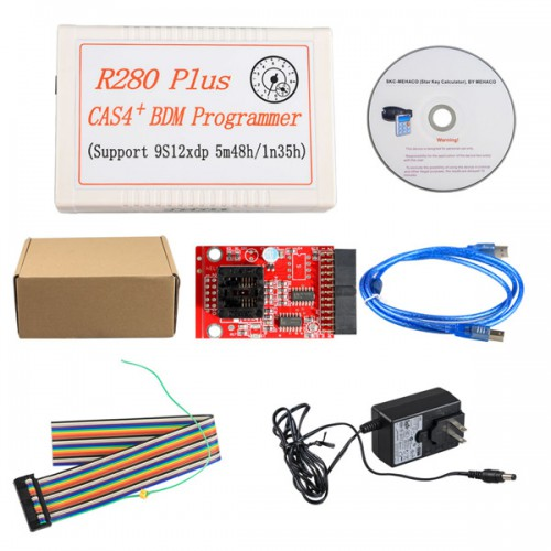 R280 Plus CAS4+ BDM Programmer for BMW Motorola MC9S12XEP100 chip (5M48H/1N35H)