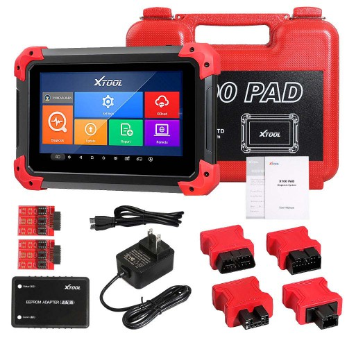 (US/UK Ship No Tax) XTOOL X100 PAD X 100 Auto Car Key Programmer With Oil Rest Tool and Odometer Adjustment 2 Yrs Free Update