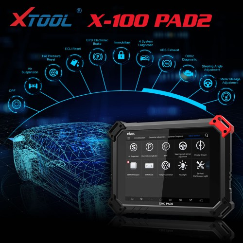[US/UK Ship No Tax] Xtool X100 PAD 2 X100 Pad2 Car Key Programmer Standard Version with Special Functions Free Shipping