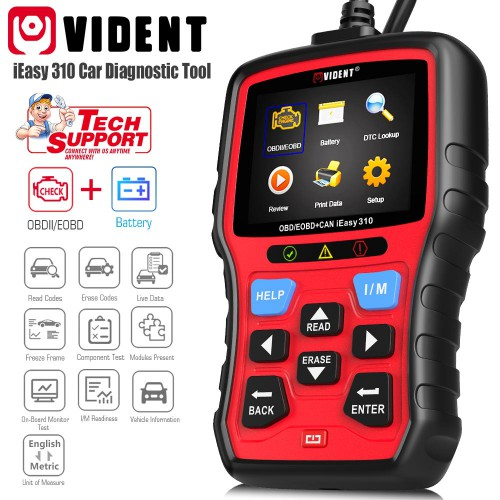 2020 Vident iEasy310 CAN OBDII/EOBD Code Reader Automotive Scanner Lifetime free upgrade (US/UK Ship No Tax)