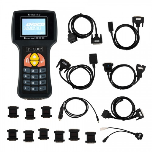 (US Ship No Tax) V2017.17.8 T300 T300+ Key Programmer English Version Black