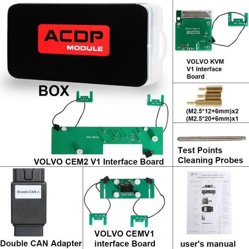 (3.18 Big Sale) Yanhua Mini ACDP Volvo IMMO Programming Module 12 Support Add Key and All Key Lost
