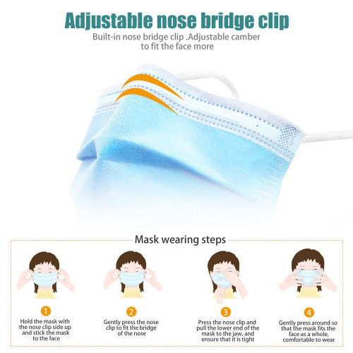 Disposable Protective Mask 50pcs/lot Free Shippping