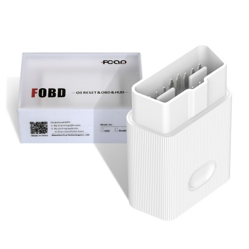Fcar FOBD OBD2 Adapter Plug and Play Diagnostic & Service Reset Tool for Android & IOS Phone Free Shipping