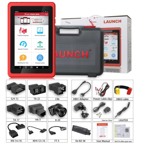 (UK/US Ship) Launch X431 PROS Mini Bluetooth Full System Multi-Brand Diagnostic and Service Tool X-431 Pros mini 2 Years Free Update