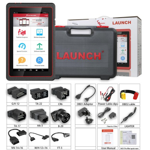 (UK/US Ship) 100% Original Launch X431 Pro Mini Bluetooth Bi-Directional full system With with 11 special function 2 Yrs Free Update
