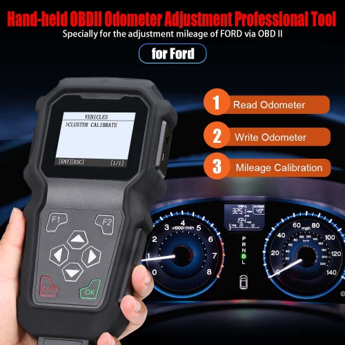 (UK Ship no tax) GODIAG M201 FORD Hand-held OBDII Odometer Adjustment Professional Tool