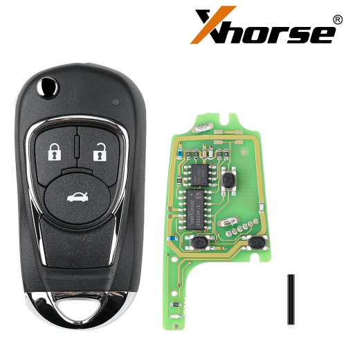 XHORSE XKBU03EN Wired Universal Remote Key Flip 3 Buttons Buick Style for VVDI VVDI2 Key Tool English Version 5pcs/lot (WIRE REMOTE Key)