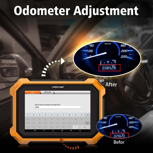 [US/EU/UK Ship] OBDSTAR X300 DP Plus X300 PAD2 Tablet Key Programmer C Package Full Version with Free P001 Converter & FCA 12+ 8 Adapter