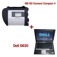 V2012.11 DOIP MB SD C4 Connect Compact 4 Star Diagnosis with DELL D630 Laptop 4GB Memory Support Offline Programming