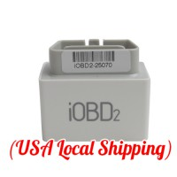 [US Ship No Tax] iOBD2 Bluetooth OBD2 EOBD Auto Scanner For iPhone/Android By Bluetooth