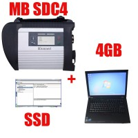 DOIP 2019.12V 256GB SSD MB SD C4 MB Star Diagnosis Plus Lenovo T410 Laptop 4GB Software Installed Ready to Use Include Xentry Das EPC WIS