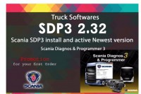 Newest Scania VCI & VCI2 SDP3 V2.32 Software for Trucks/Buses Without USB Dongle