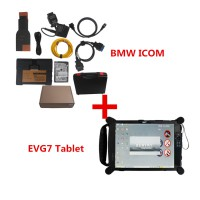 V2020.8 BMW ICOM A2+B+C Diagnostic & Programming & Coding Tool with Software Installed EVG7 DL46/HDD500GB/DDR2GB Tablet Ready to Use