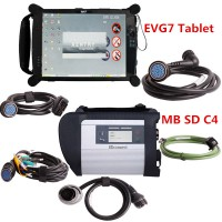 (Ready to Use) V2020.9 MB SD C4 Connect Compact 4 MB Star C4 Diagnosis with Original EVG7 DL46/HDD500GB/DDR2GB Tablet Installed