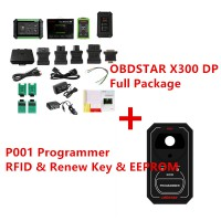 OBDSTAR X300 DP X-300 PAD Tablet Key Programmer Full Configuration Plus P001 Programmer RFID & Renew Key & EEPROM Functions 3 in 1