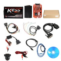 (UK Ship No Tax) Best Price Online Version V2.53 Kess V2 V5.017 with red PCB Support 140 Protocol Unlimited Tokens