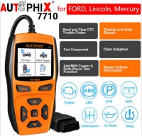 AUTOPHIX Professional OBDII Diagnostic Scanner for Ford, 7710 for Full System Diagnoses with ABS, SRS, Engine, Transmission, EPB, Oil Reset and Other