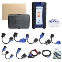 [DHL Free Ship] Cheap NEXIQ-2 USB Link + Software Diesel Truck Interface and Software with All Installers with Case NEXIQ 2
