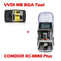 (Xhorse Sales) Xhorse Condor MINI Plus Cutting Machine with VVDI MB Tool Key Programmer Get 1 Year Unlimited Token Service