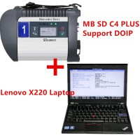 (Ready to Use) V2021.3 256GB SSD MB SD C4 PLUS Connect Compact C4 Star Diagnosis for DOIP Plus Lenovo X220 I5 4GB Laptop