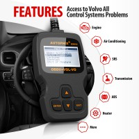 Autophix ES610 Professional Auto OBD2 EOBD Diagnostic Tool for Volvo