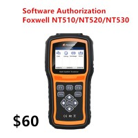 NT510/NT520/NT530 Multi-System Scanner Software Authorization Service 25 Car types to Choose