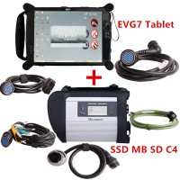 SSD V2020.6 MB SD C4 DOIP Connect Compact 4 MB Star Diagnosis with Original EVG7 DL46/HDD500GB/DDR2GB Tablet Installed Ready to Use