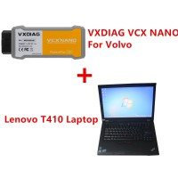 VXDIAG VCX NANO For Volvo with 500GB HDD Software Pre-installed on Lenovo T410 Laptop Ready to Use