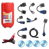 Best Bluetooth NEXIQ 125032 USB Link Multi-brand Truck diagnostic tool with original driver Case Packing